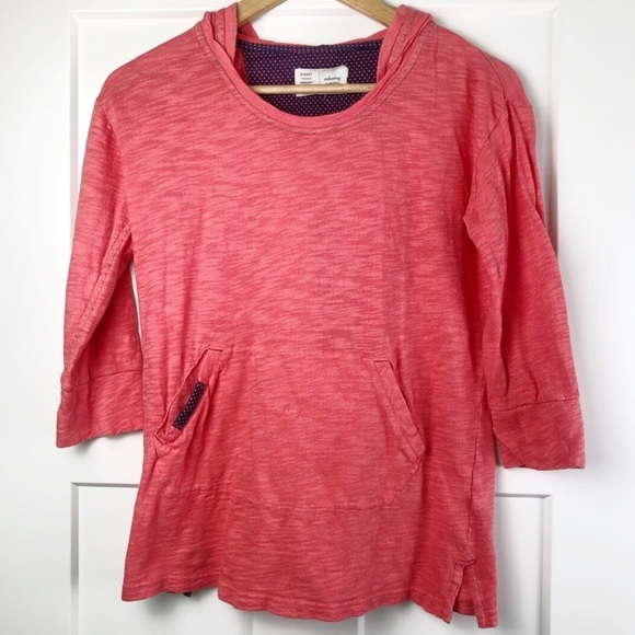 Anthropologie Tops - ⭐️ Anthropologie Saturday Sunday XS Coral Hoodie